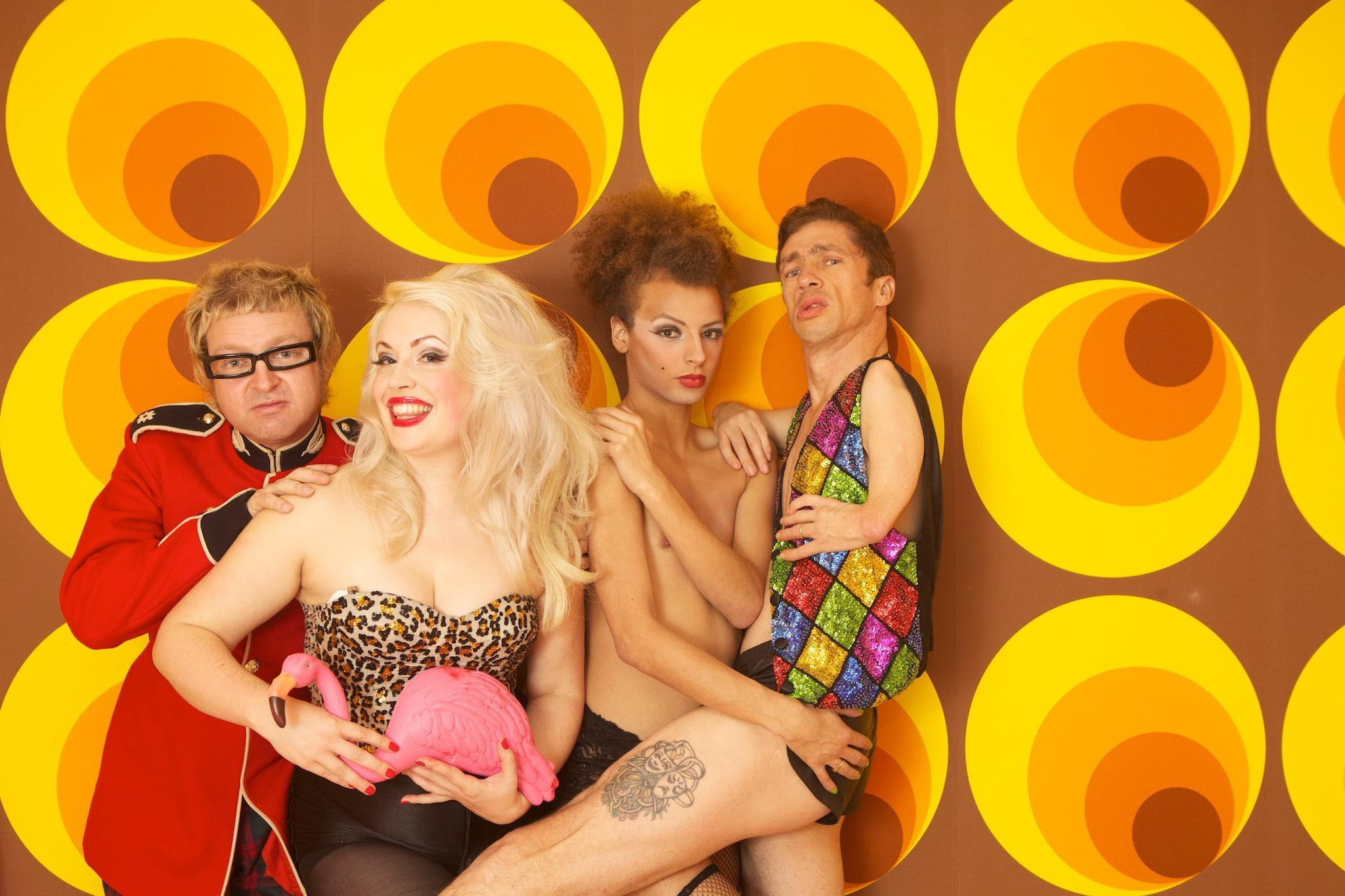 Sleaze, DJ Hit Man Hearn, Trixie Malicious, Miss Cairo, Mat Fraser