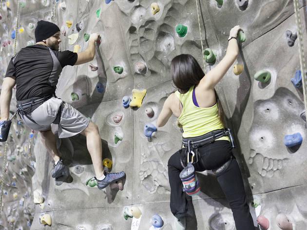 Open Climb at the Sports Center at Chelsea Piers