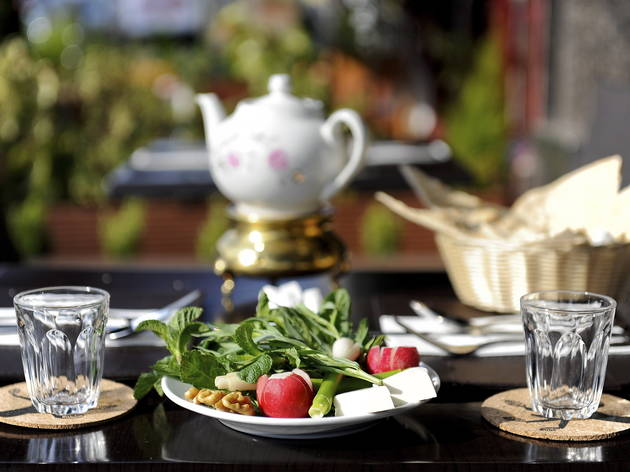 Hana   Restaurants in West Hampstead, London Persian Pomegranate Art