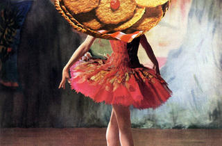 ('Cakewalk balletomane', 2010 / Collage sur page de magazine / © Linder)