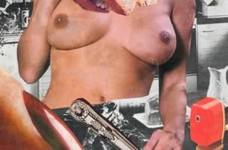 ('Sans titre', 1978 / Collage sur page de magazine / © Linder)