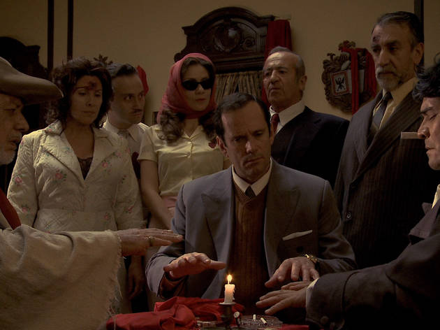 Left to right: Pedro Villagra, Christian Vadim, Sergio Schmied and Sergio Hernandez in Night Across the Street