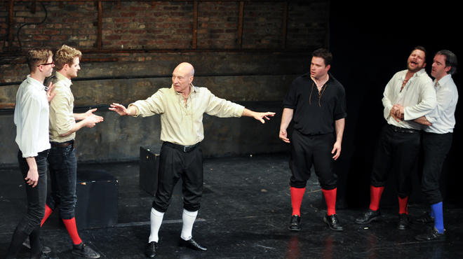 Patrick Stewart and the Improvised Shakespeare Company