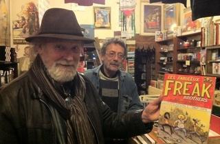 Thé Troc (Gilbert Shelton, monument de la bande dessinée underground américaine, créateur des Freak Brothers, est un habitué des lieux / © Barbara Chossis)
