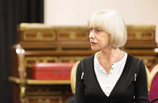 Helen Mirren in rehearsal for 'The Audience'