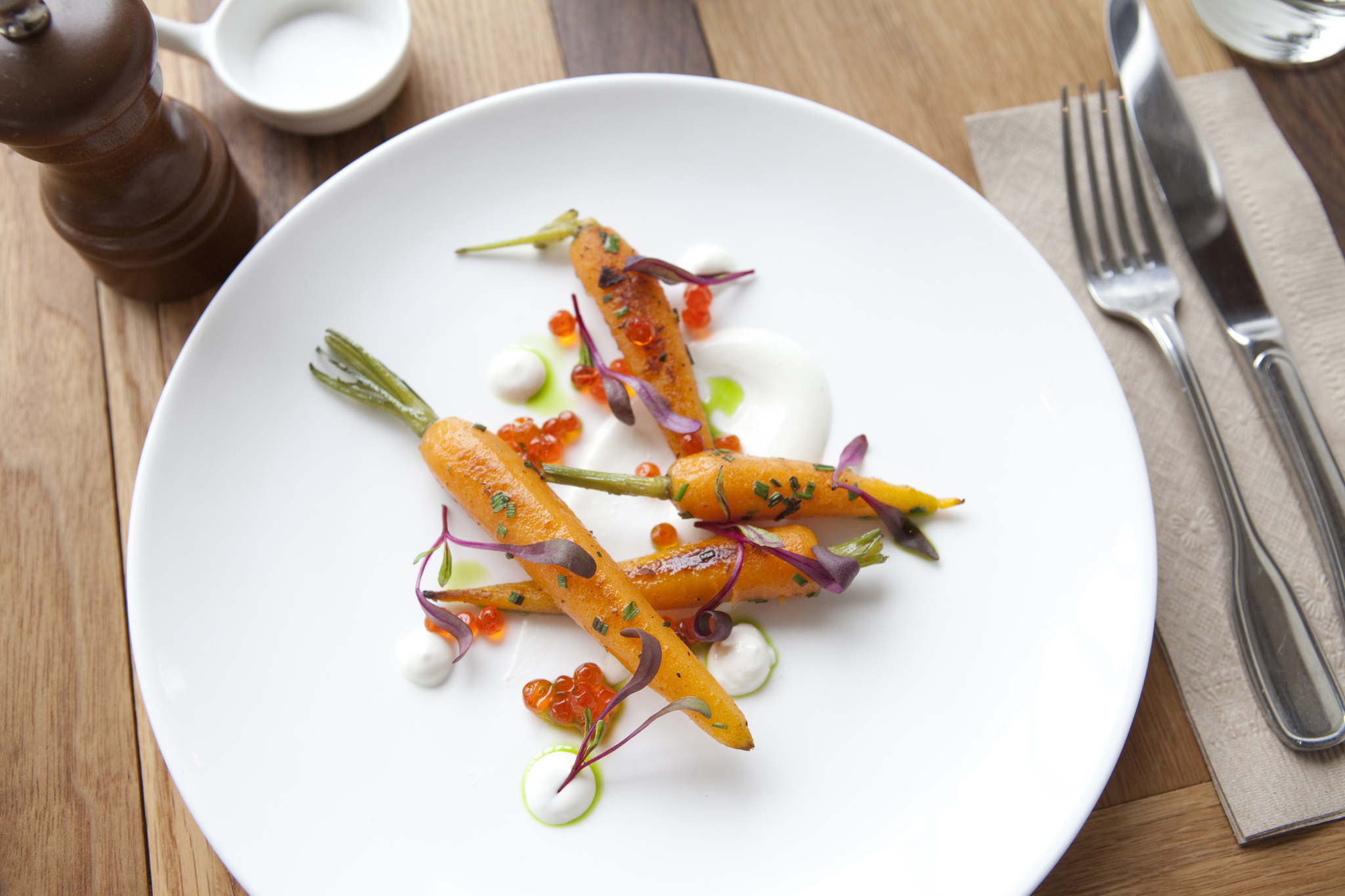 <p>Roasted carrots at Sunshine Co.</p>