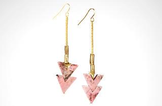 Erica Weiner rhodonite chevron earrings, $75