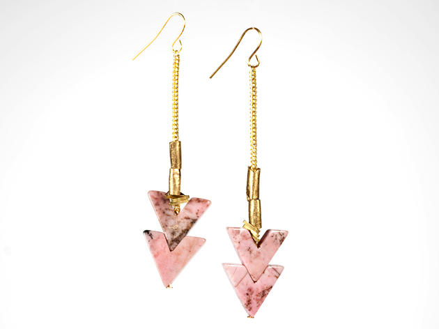 Erica Weiner rhodonite chevron earrings, $75