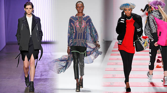 Fall 2013 runway looks from Rebecca Taylor, Mara Hoffman and Betsey Johnson