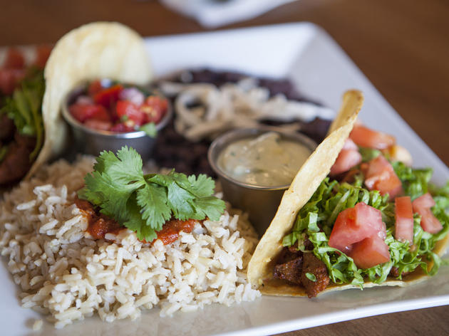 Eastsider tacos at Flore Vegan
