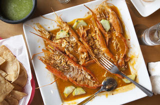 Langoustines at Coni' Seafood