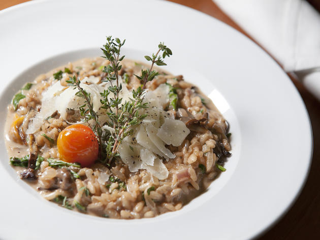 Mushroom risotto at Elf Cafe