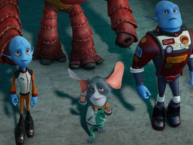 Rob Corddry and Brendan Fraser voice blue-skinned aliens in Escape from Planet Earth