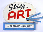 John Waters, Study Art Sign (For Breeding or Bounty), 2007