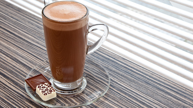 Treat yourself to hot chocolate