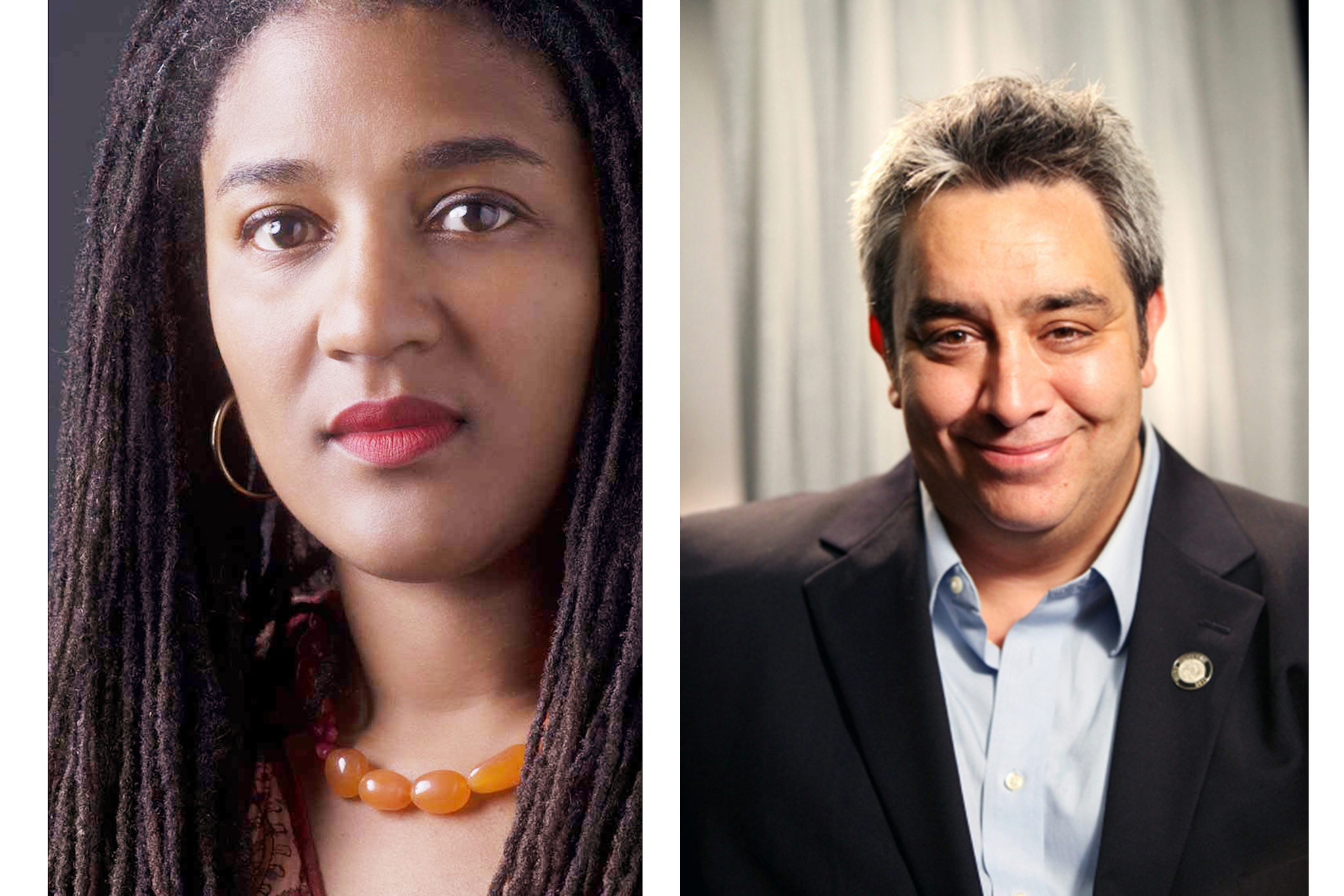 L–R: Lynn Nottage and Stephen Guirgis