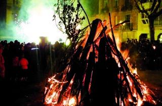 Foguerons de Sa Pobla 2014: Hogueras en  las plazas de Gràcia