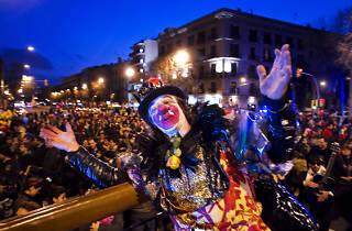 Carnaval 2014: Arribo del Rei Carnestoltes i Sarau de l'Arribo amb Ball de Màscares