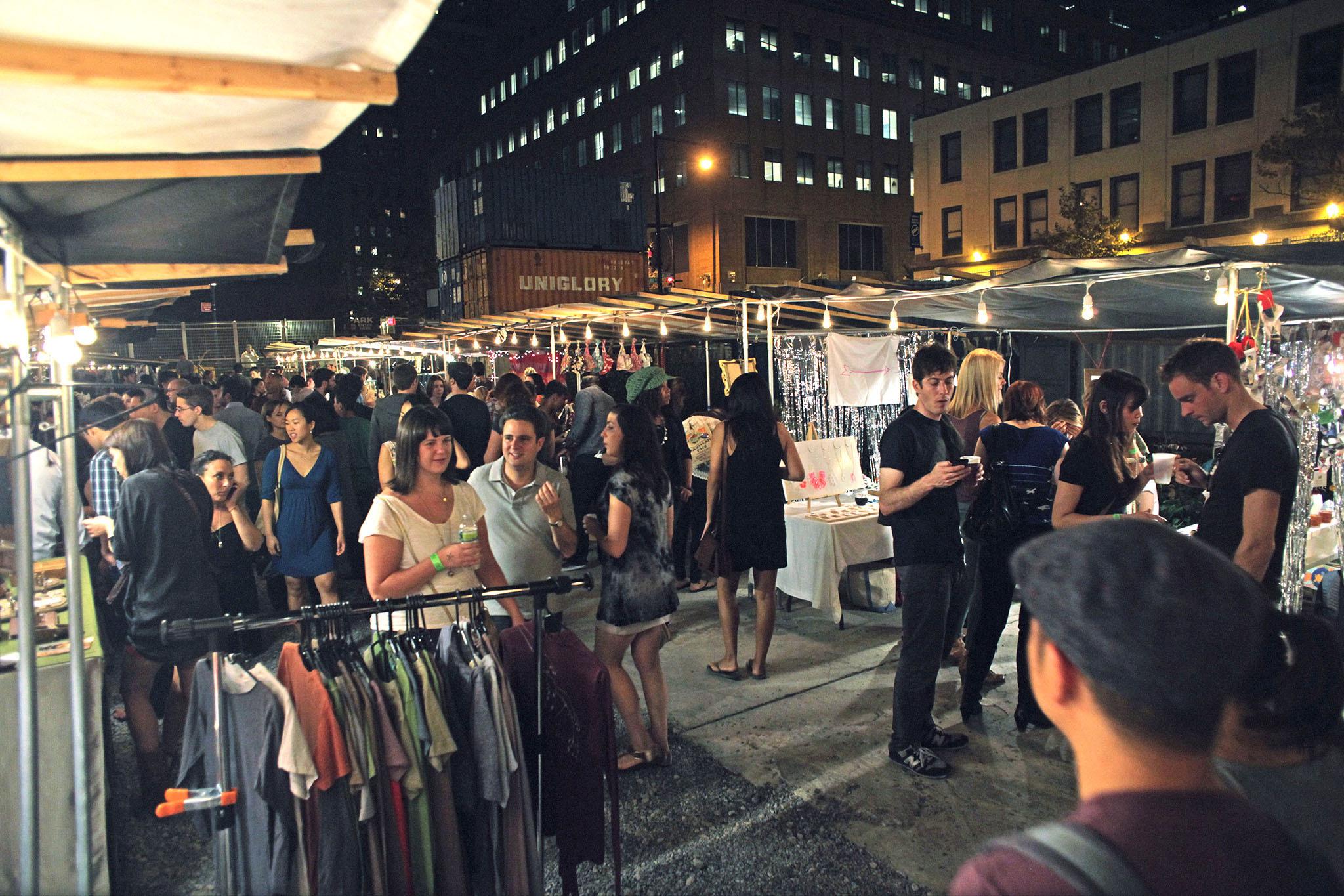 Shop, dance and eat at the Brooklyn Night Bazaar
