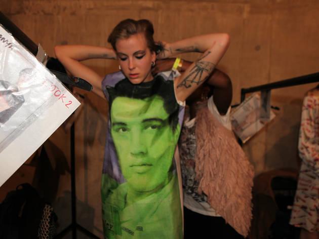 Fashion East 2013 Ashley Williams Elvis dress