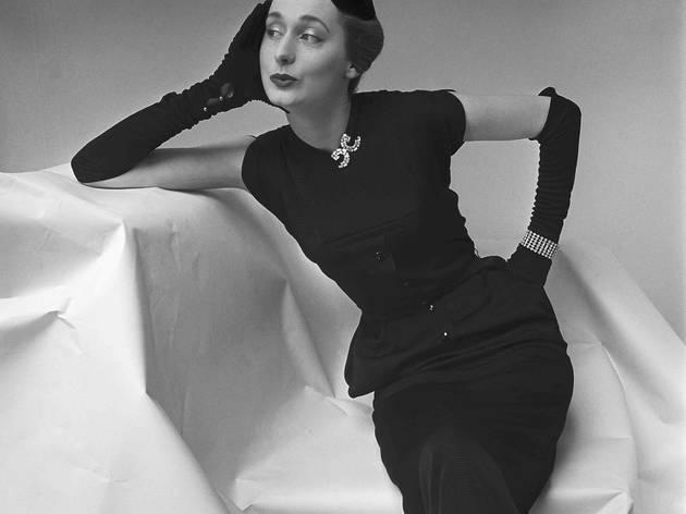 Model posing for British Vogue (Corbis/© Norman Parkinson Ltd/Courtesy Norman Parkinson Archive)