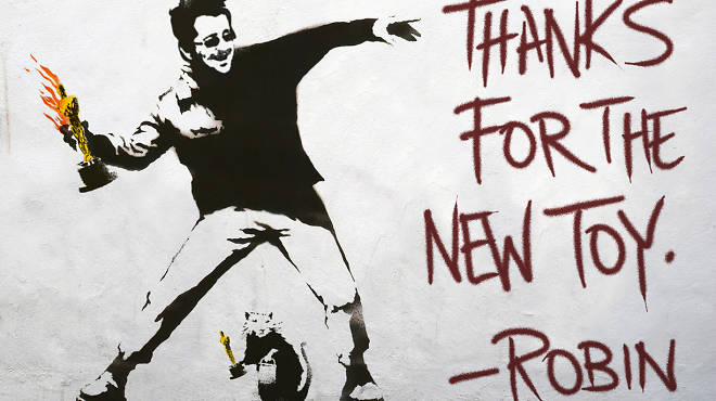 "Banksy / ""Thanks for the new toy"""