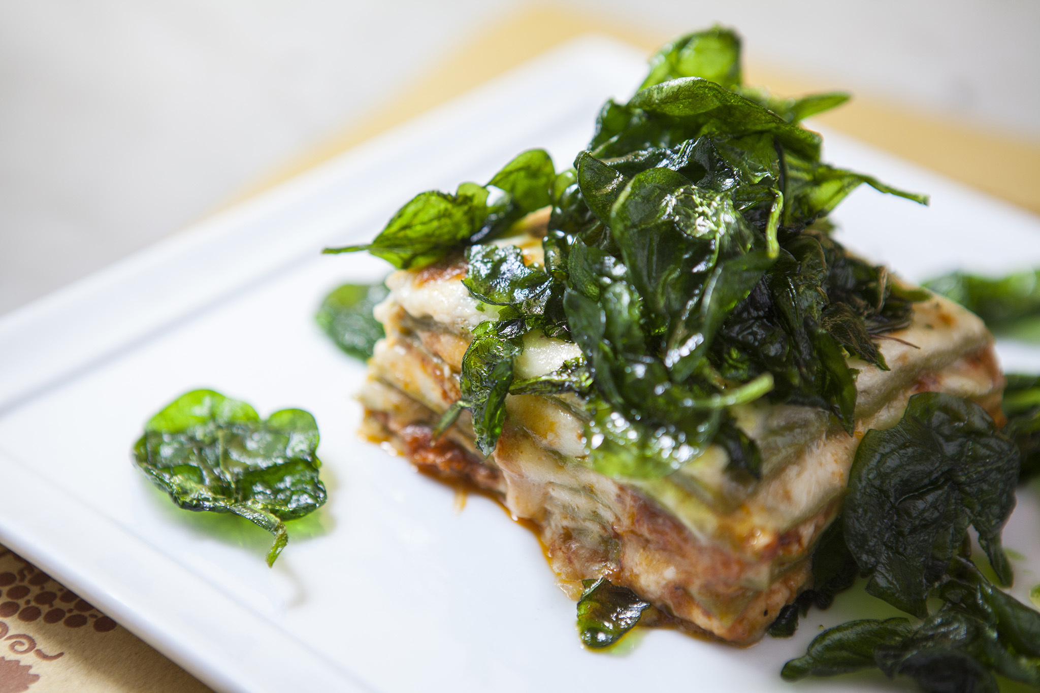 Lasagne verde at Angelini Osteria