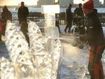 Okamoto Studio ice carving at World Financial Center, 2013