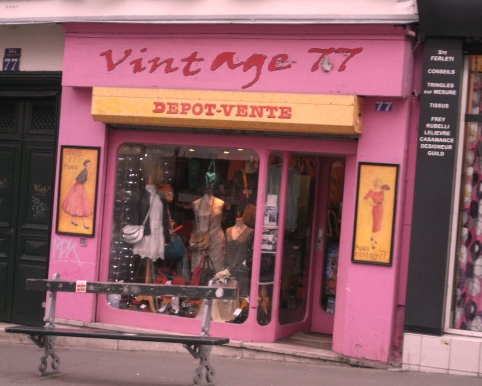 Image result for marais vintage shops paris