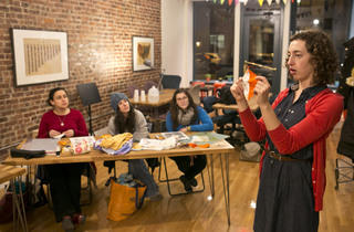 Quilting class at Brooklyn Brainery