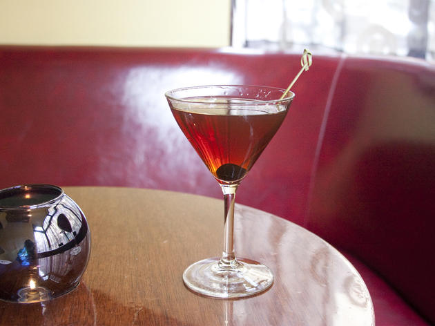 Because the Manhattan cocktail was invented here, and we'd like to see someone try to make it better than we do