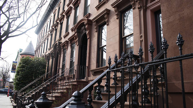 See these fancy brownstones? Yeah, it's probably too expensive to live in one.