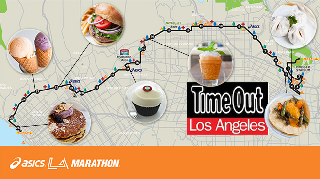 Where to eat and drink along the LA Marathon route
