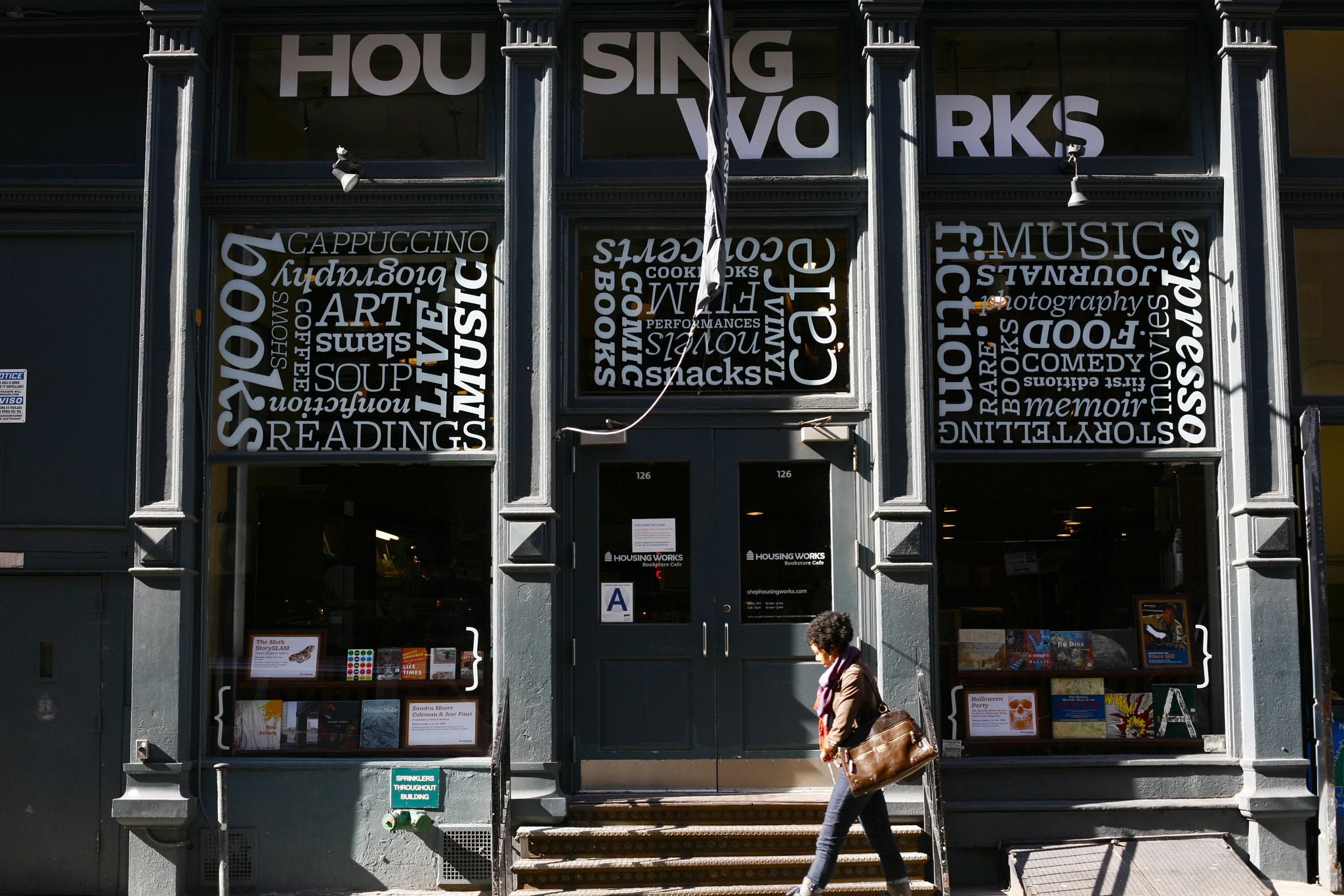Grab a book at Housing Works Bookstore Café