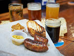 Liver sausage at the Bronx Beer Hall