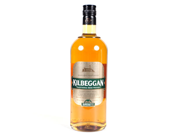 "Kilbeggan Irish Whiskey""A recently revamped distillery hidden among the lochs of central Ireland, Kilbeggan was an old distilling site that until a few years ago lay dormant."" This crowd-pleaser—double distilled in a copper-pot still from the mid-1800s—i"