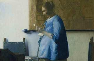 Johannes Vermeer: Woman In Blue Reading a Letter