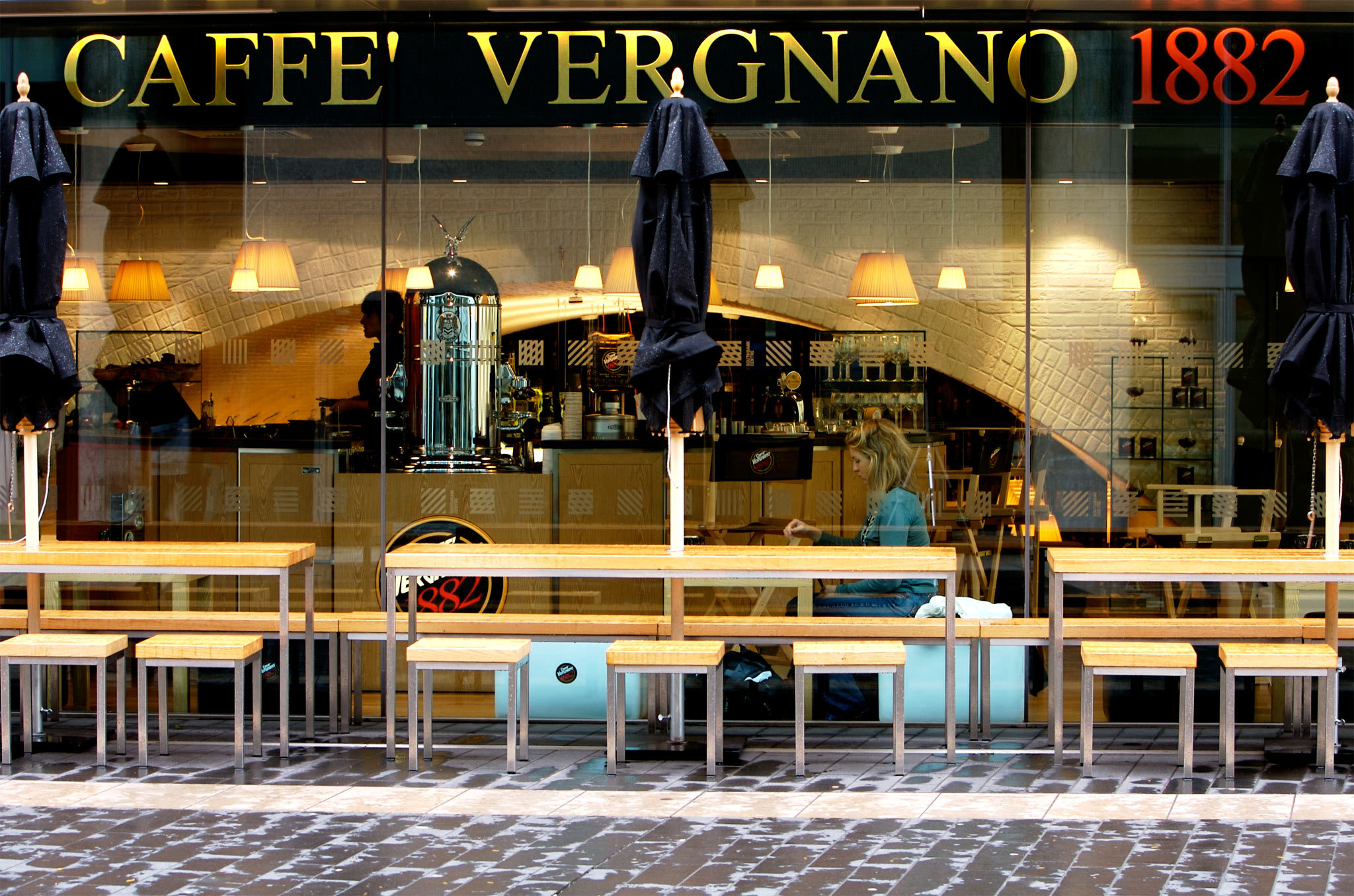 Hot chocolate at Caffe Vergnano 1882