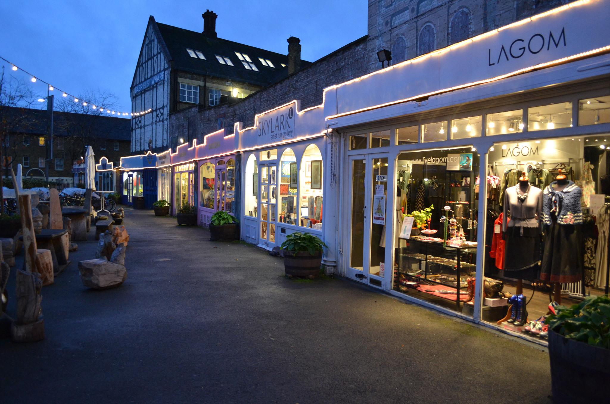 Fashion shopping at Gabriel's Wharf