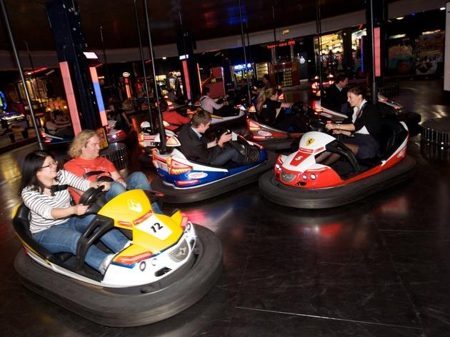 Bumper cars at Namco Funscape