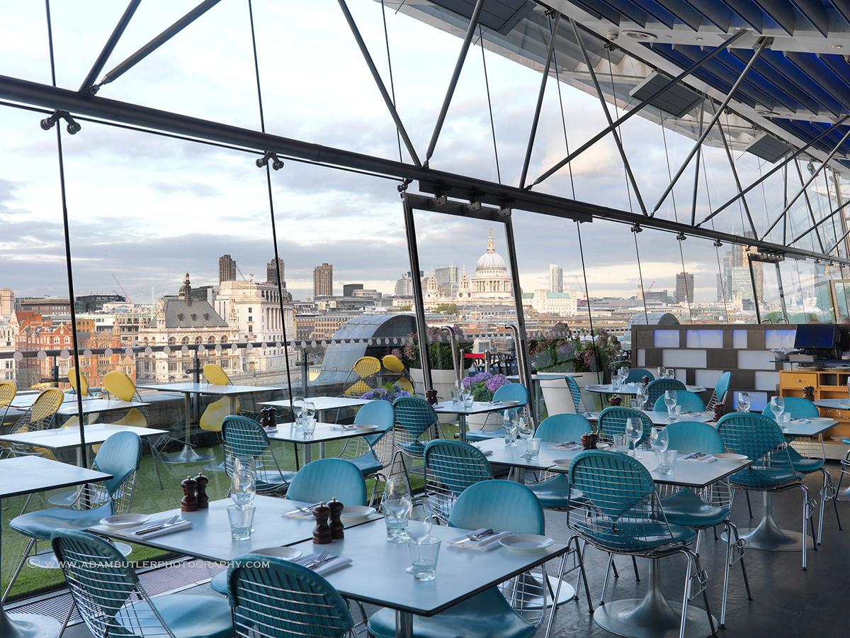 Riverside dining at Oxo Tower Brasserie