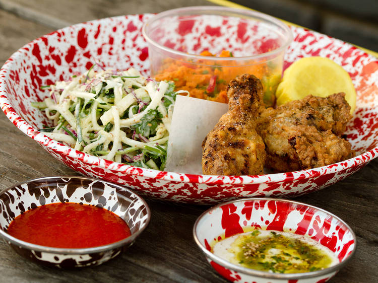 A-Frame's all-you-can-eat fried chicken picnic