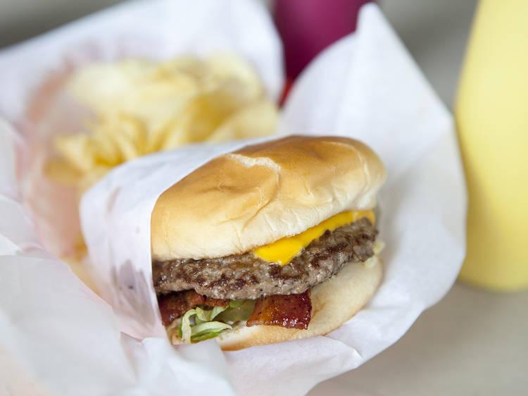 Bacon Cheeseburger at Bill's Hamburgers