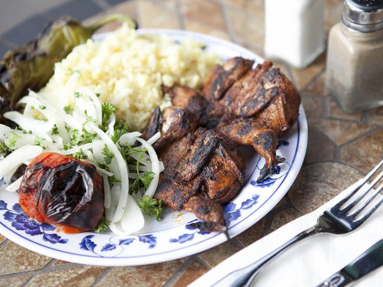 Elena's Greek Armenian Cuisine quail plate