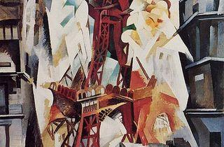 (Robert Delaunay, Tour Eiffel, 1911)