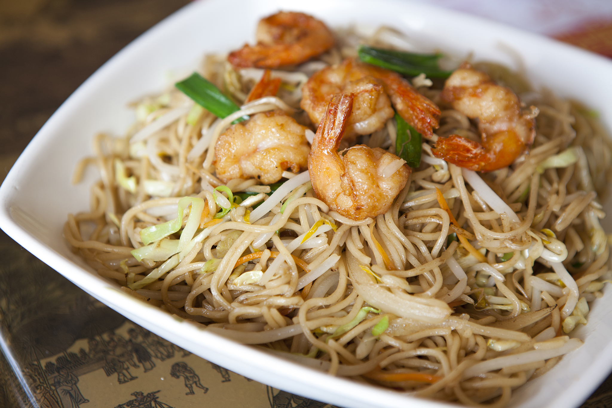 <p>Pan-fried shrimp noodles at Hui Tou Xiang</p>