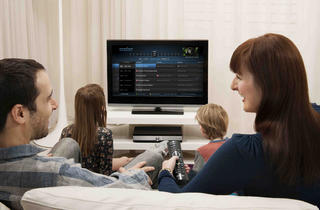 YouView watching TV sofa