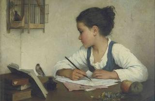 ('A Girl Writing', c1860 By Henriette Browne © V&A Images)