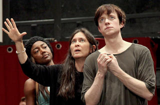 Diane Paulus, center, directs the Broadway revival of Pippin