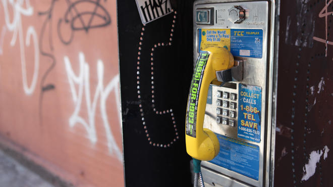 Travel back in time via payphone